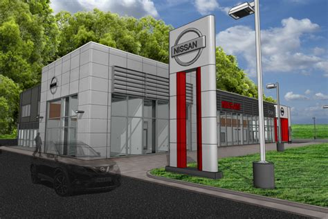 cole nissan  car dealership addition byce