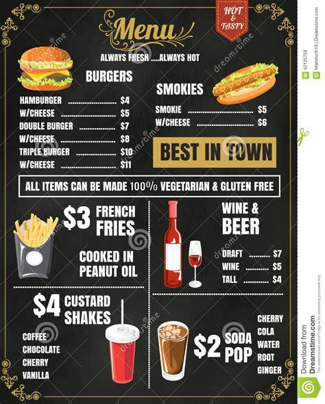 restaurant food menu design  chalkboard background