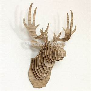 Cm wall hanging deer head home and store decoration wood