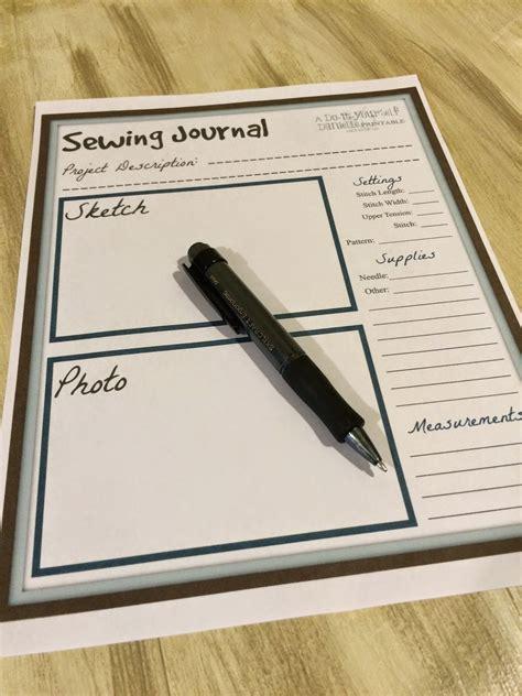 printable sewing journal diy danielle