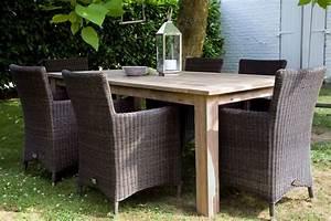Table En Teck Jardin : mobilier de jardin la r sine tress e vs le teck ~ Melissatoandfro.com Idées de Décoration