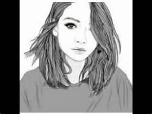 Fille Noir Et Blanc : dessin de fille en noir et blanc youtube ~ Melissatoandfro.com Idées de Décoration