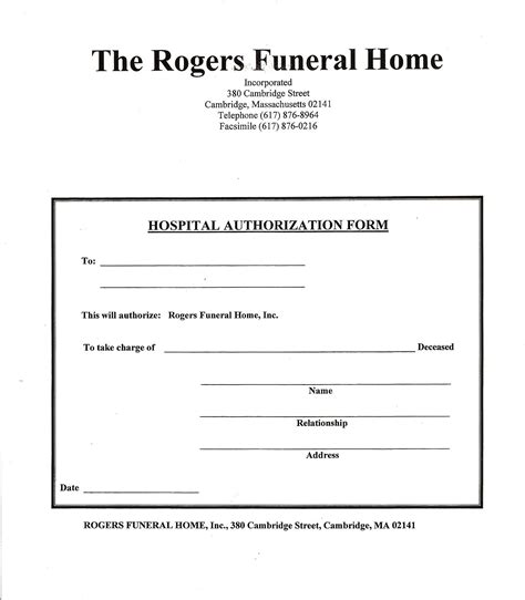 15419 hospital release form hospital release rogers and hutchins funeral home