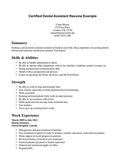 22444 resume exles for dental assistant dental assistant duties resume resume ideas