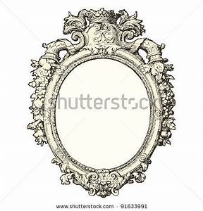 Old Mirror Drawing | Hand Mirror Drawing | craft room ...