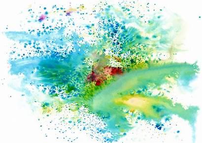 Splash Paint Ink Clipart Colors Cool Watercolor
