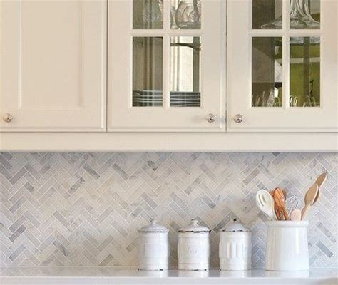 marble herringbone backsplash herringbone carrera marble backsplash home wishes pinterest