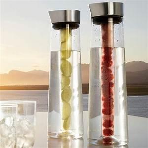 Karaffe Mit Einsatz : karaffe edelstahl matt glas 1200 ml mit k hlstab blomus acqua cool ~ Orissabook.com Haus und Dekorationen