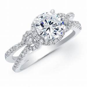 Ring designs engagement ring designs for women for Halo engagement rings with wedding bands