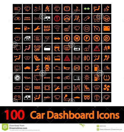 de pictogrammen van het dashboard van de auto vector