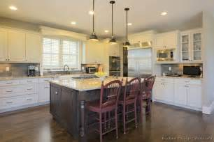 white kitchen wood island pictures of kitchens traditional two tone kitchen cabinets page 6