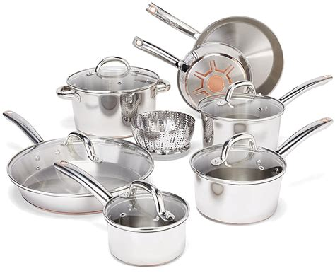 cookware stainless steel sets fal base