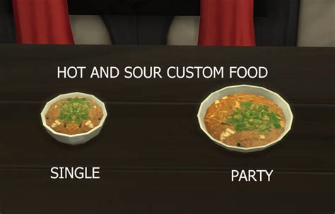 customisation cuisine mod the sims and sour soup custom food update 9th