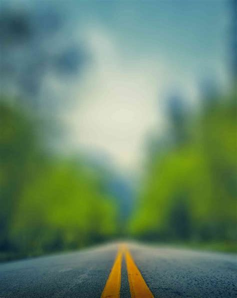 Blur Road Background With Amazing Green Tone Effect ...