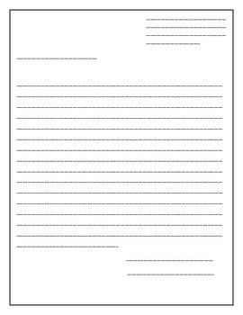 blank letter template  simplyxteaching teachers pay