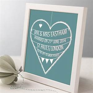 personalised wedding heart print by modo creative With personalized wedding gifts uk