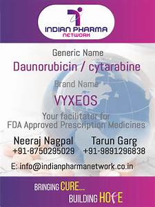 Vyxeos Cost - Buy Generic Daunorubicin And Cytarabine Price in India - For leukemia Treatment ... Daunorubicin Liposomal Injection