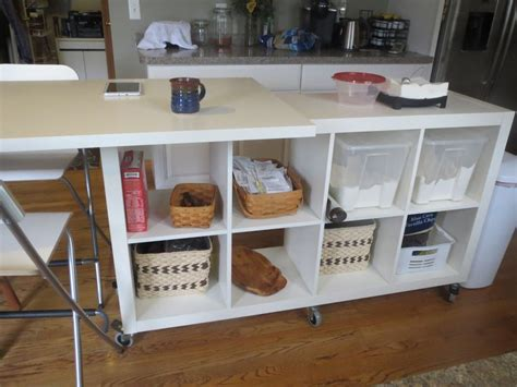 expedit kitchen island extendable kitchen island using expedit and linmon diy 3624