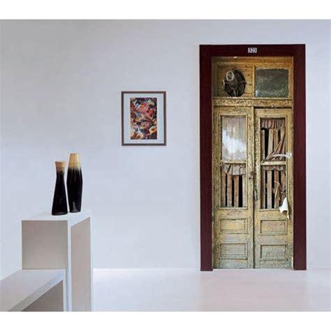 papier peint pour porte interieur deco trompe loeil