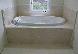 Ceramic Tile Jacuzzi Tub And Deck