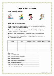 Leisure Time worksheet - Free ESL printable worksheets ...