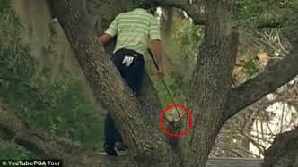Sergio Garcia climbs tree and hits backwards one-handed ...