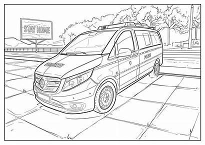 Mercedes Benz Colorear Skizzen Sprinter Colouring Sketches