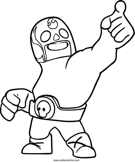 personaggi  brawl stars da disegnare  colorare