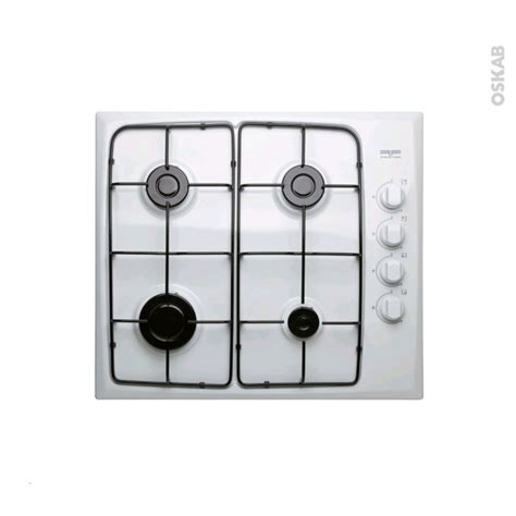 plaque cuisine gaz plaque de cuisson 4 feux gaz 60 cm blanc frionor frip4gbl