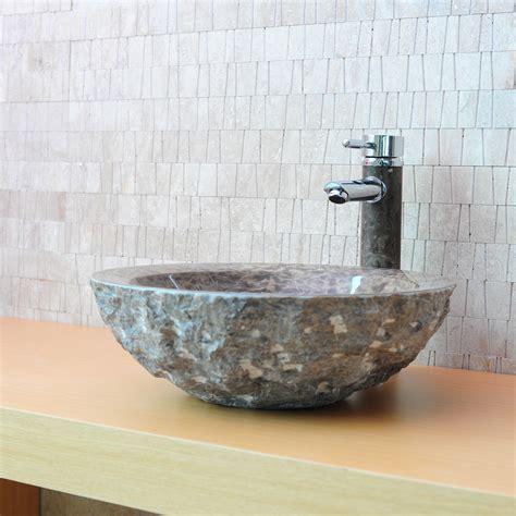 salle de bain ronde vasque en ronde wasa marbre brun indoor by