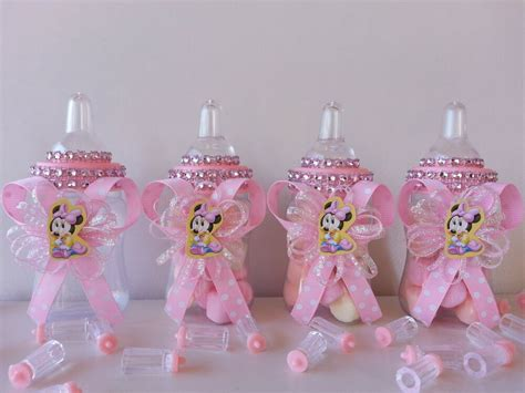 minnie mouse baby shower decorations ideas 12 minnie mouse fillable bottles favors prizes baby
