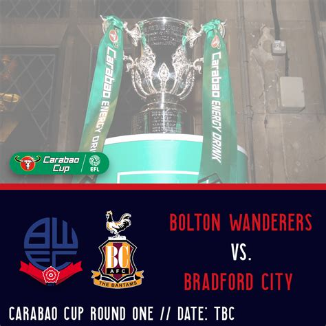Wanderers to face Bradford City in Carabao Cup First Round ...