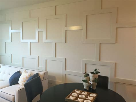 Wall Decor Idea Wood Wall by Wood Trim Design Accent Wall Simply Use 1x4 S To Add This