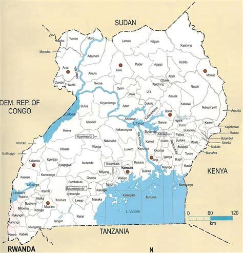 detailed map  uganda uganda detailed map vidianicom