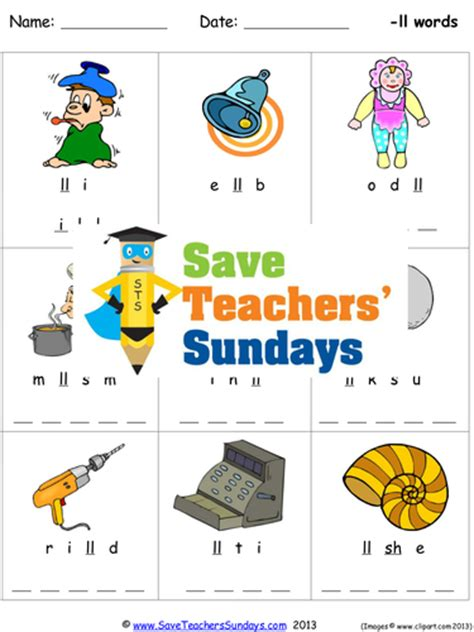ll phonics worksheets activities flash cards and other