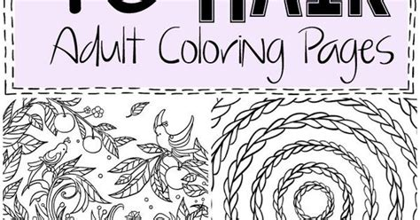 i love these 10 crazy hair adult coloring pages they re