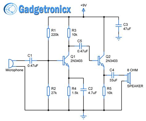 Stage Amplifier Circuit Using Transistors Gadgetronicx