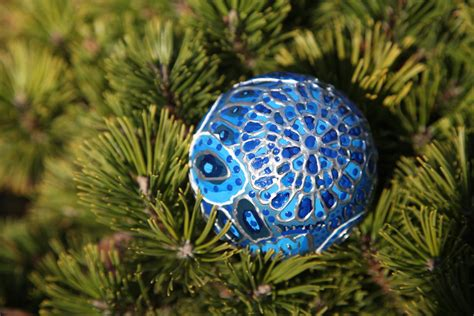 christmas ornament blue winter peacock photo 6 by