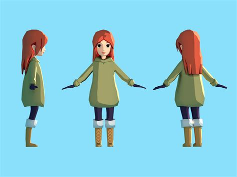 poly character  erika henell  dribbble