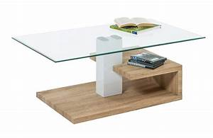Table Basse Verre Bois : table basse verre et bois ~ Teatrodelosmanantiales.com Idées de Décoration
