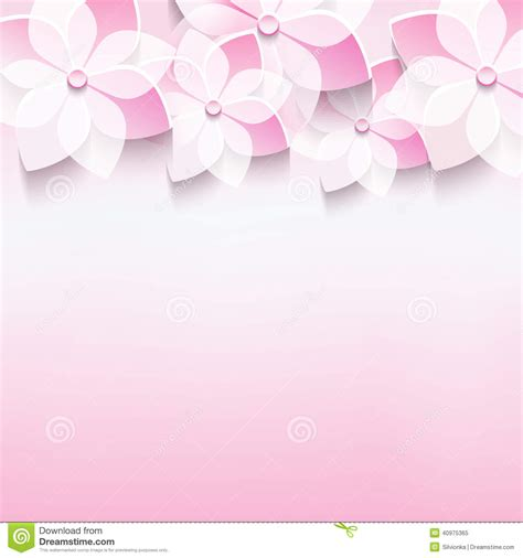 Birthday Card Background 3d by Stylish Greeting Card With Pink 3d Flower Stock