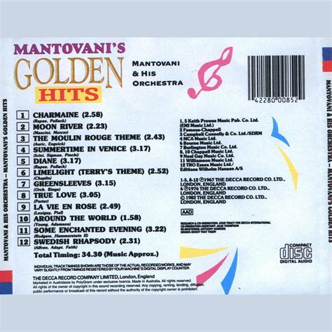 Mantovani Hits by Mantovani Golden Hits 28 Images The Mantovani