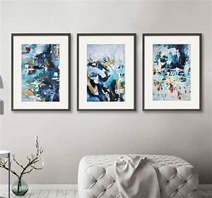 Abstract, Art, Print, Set, Of, Three, Framed, Artwork, By, Abstract, House