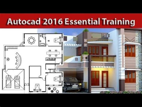autocad complete  house tutorial  beginners part