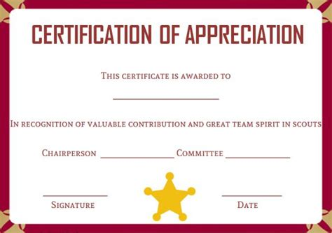 Scout Certificate Templates by Scout Certificates Template 12 Free Printables In Word