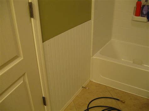 How To Install Chair Rail Molding by All Things Creative Bathroom Beadboard