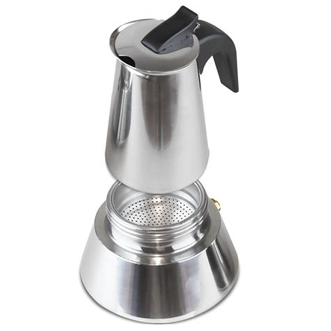 If you're a buyer who wouldn't mind splurging a little on an excellent. 4 Cup Stainless Steel Stove Top Espresso Maker| AusPoints.com.au