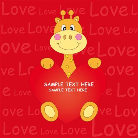 giraffe   heart stock vector  sbego