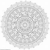 Coloring Mandala Tribal Getcoloringpages sketch template