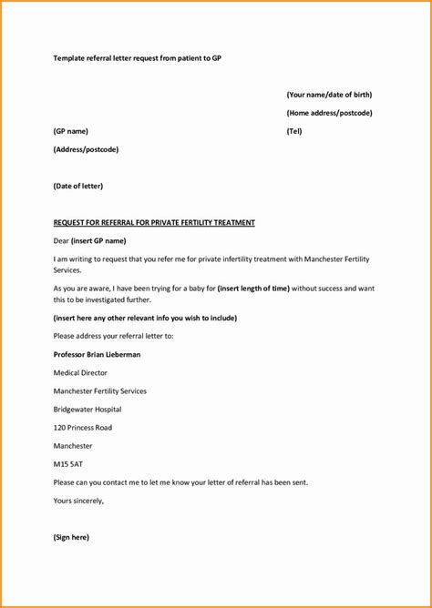 physician referral form template lovely medical referral